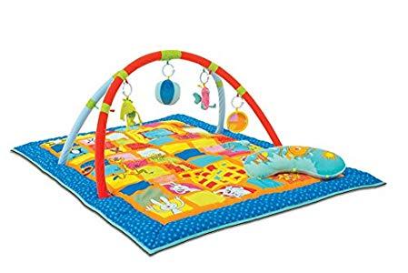 Ludi – Cilindro hinchable de actividades para bebé Opiniones, Colores llamativos y con juego