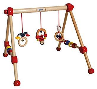 Bieco KG  23000004  – Mi primer gimnasio de madera 54 x 54 x 48 cm [importado de Alemania] Opiniones, Buena calidad y buen acabado