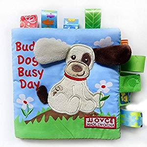 Malloom Perro animal mono conejo Puzzle libro bebé juguete tela desarrollo libros de tela Opiniones, Sencillo y práctico
