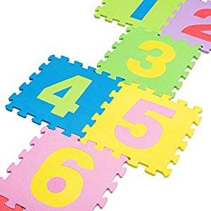 Leo & Emma De alta calidad de BPA libre de puzzle con 9Juego Alfombrillas Números de 1–9 Opiniones, Alfombra de númro goma eva