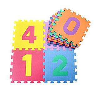 Jiyaru 10 PCS Infantil Alfombra Puzzle para Niños Manta De Espuma De Suelo Números Para Niños Número De Mat Educación Juguetes Opiniones, CristinaRuedaAjenjo