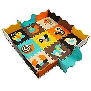 KAIXIN Alfombras Puzzle Alfombras para Bebes Alfombras de Juegos Infantiles con Valla no Toxica 25 piezas Opiniones, Desafortunadamente