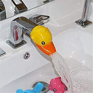 Inchant Los niños encantadores de baño Forma accesorio animal plástico de dibujos animados grifo Extender Opiniones, Estupendo