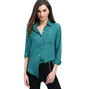 Lonshell_ Damen T-Shirt Camisa de mujer Lonshell – Blusa suelta de manga larga para mujer Opiniones,