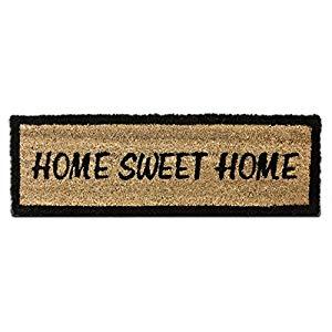 Relaxdays Home Sweet Home – Felpudo para la Entrada de su hogar Hecho de Fibras de Coco y PVC con Medidas 75 x 25 cm Antideslizante Elemento Decorativo Opiniones, Genial tamaño y acabado