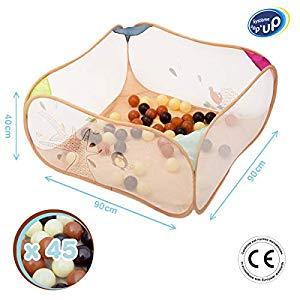 Ludi Nature Zen 2835 – Parque de bolas Opiniones, Para bebés que aún no gatean pero ya se mueven