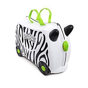Trunki Maleta correpasillos y equipaje de mano infantil: Zebra Zimba Opiniones, Buena maleta para tu peque.