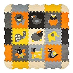 meiqicool Niños Puzzle Play Mat Colorido Suave no Tóxico Rompecabezas de Piso de Espuma Azulejos y Juguetes Opiniones, Alfombra de Juego
