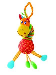 Tiny Love Tiny Smarts Jittering Giraffe – Juguete para silla de paseo Opiniones, Perfecta para entretener a mi bebe por su tacto y sus colores