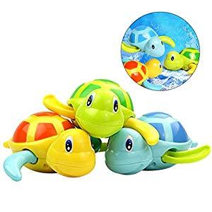 TOYMYTOY 3pcs bebé baño juguetes de natación bañera linda tortuga natación juguetes Opiniones, No se llenan de agua