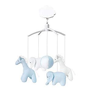 Trousselier – musical móvil – musical móvil Girafe Elephant Bleu et blanc Opiniones, maravilloso