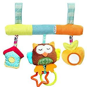 TOYMYTOY Infant Baby Plush Adorable Animal Rattle Stroller Asiento de coche colgante Toy Pram Crib regalo de juguete móvil para niños y niñas Opiniones, Bonito y con música